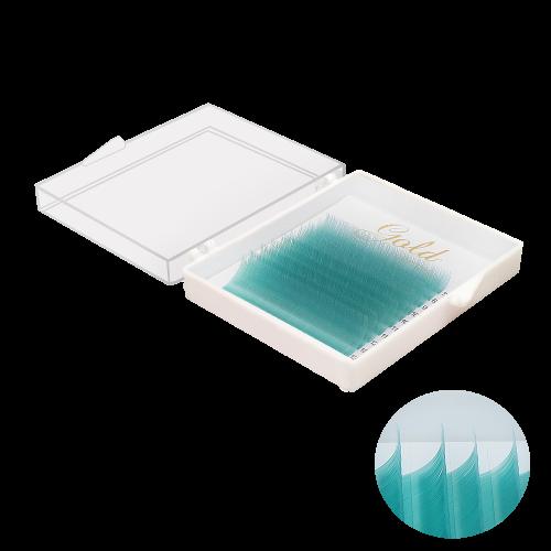 """10 линий, цвет """"Морской волны"""" , (из за разной калибровки экрана цвет может отличаться, все ресницы яркого и сочного цвета)"""