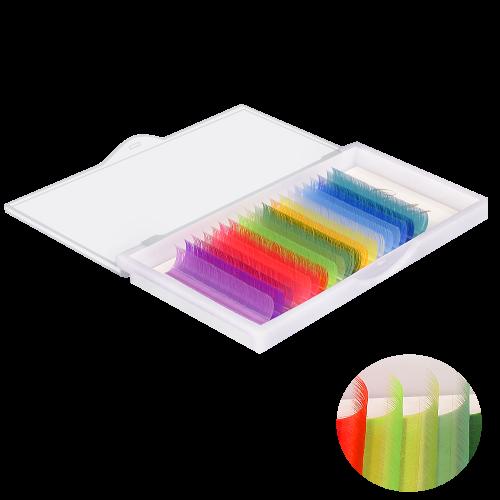 """20 линий,  """"Палитра - 20"""" (из за разной калибровки экрана цвет может отличаться, все ресницы яркого и сочного цвета)"""